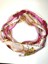 Fashion Scarf Women Print Silk Like  large Square Shawl Stole Hijab 12inx58in
