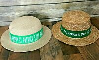 Lot of 2 Disney World Raglan Road Happy St Patricks Day Straw Hat His Hers Adult