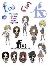 FX F(X) 4 WALLS KRYSTAL LUNA AMBER DIMENSION TATOO STICKER KPOP NEW P3488