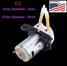 DC 12V D2 2*4mm  Dosing Pump Peristaltic Head for Lab Analytical Liquid