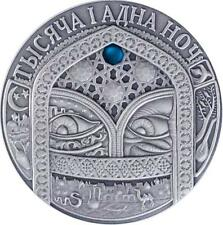 Belarus 2006 20 Rubles Fairy Tales - 1001 Nights 28.28g Silver Coin with Zircon
