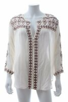 Melissa Odabash 'Milly' Embroidered Beach Shirt / Cream / RRP: £200.00