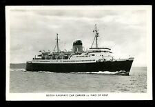 Shipping British Railways Car Carrier SS MAID OF KENT 1961 RP PPC
