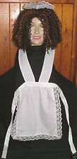 "FRENCH MAID APRON & HEADPIECE FOR ROCKY HORROR COSTUME MAGENTA 75""long waistband"