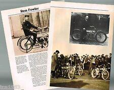 vintage REM FOWLER MOTORCYCLE Racing Article / Photos: NORTON
