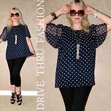 Vtg 70 Sheer DOLLY Polka Dot DRAPE Angel boho hippie Micro MINI DRESS blouse top