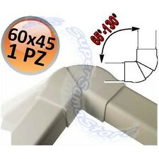 3S CURVA PIANA REGOLABILE da 70° a 120° per CANALINA 60x45 mm PLASTICA PVC NUOVA