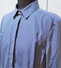 AS NEW Size 16 Charles Tyrwhitt Navy Blue & White Cotton Blouse- 56cm Bust