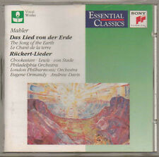 MAHLER THE SONG OF THE EARTH SONY CLASSICAL CD 1994