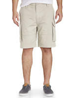 NAUTICA Men's Ripstop Cargo Shorts Multi Pocket Big & Tall Pick your Size Stone