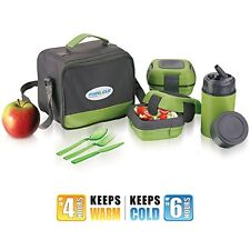 Lunch Box Bag Set for Adults & Kids Pinnacle Insulated Leakproof Thermo eat hot