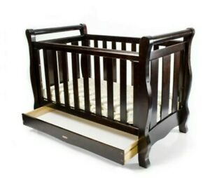Love n Care Baby Cot Bed Junior Bed 3 in 1 Sleigh Cot + Mattress + Laundry Bag
