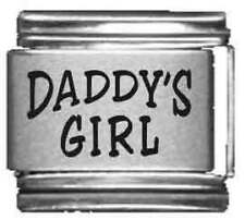 Clearly Charming Daddy's Girl Laser Italian Charm