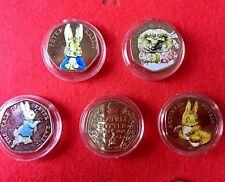 Beatrix Potter 50p Coins Uncirculated Coloured Set