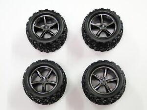NEW TRAXXAS 1/16 E-REVO Wheels & Tires VXL RE15
