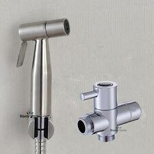 "Toilet  Bidet Sprayer Stainless Steel spray Shattaf Douche kit +G1/2"" T-Adapter"