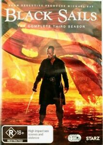 Black Sails The Complete Third Season 3. LIKE NEW.  4 x DVDs