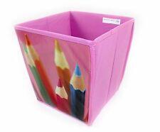 Cubo a Forma di Carta Straccia Bin, rosa, design a Matita Camera da letto, stanza dei giochi, bambini, gli studenti