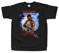 Rambo First Blood V3 action war movie poster DTG Print T Shirt All sizes S-5XL