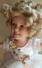 "Danbury Mint Shirley Temple ""BABY TAKE A BOW"" Porcelain Elke Hutchens Doll c1998"