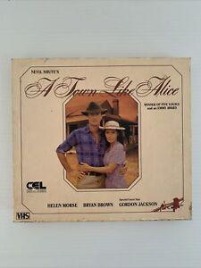 A Town Like Alice *RARE* VHS 2-Tape Box Set Australian TV DRAMA Bryan Brown