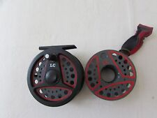 """A1 vintage Leeda LC80 trout fly fishing reel  + spare spool 3.+ 3/8ths"""" . .../"""
