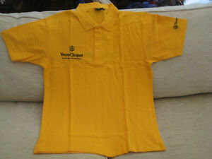 Genuine Veuve Clicquot Champagne Polo Shirt Size XL New 100% Cotton Nice Gift