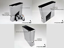 Silver Carbon Fiber Decal Skin Sticker for Xbox360 slim and 2 controller skins