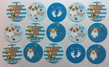 "PRECUT 1.5"" 15 pcs. Baby Boy Shower Images Cupcake Toppers Free Shipping"