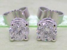 Diamant Brillant Ohrstecker 585 Weißgold 14Kt Gold 0,93ct Solitär Wesselton