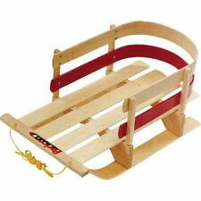 Baby Toddler Wooden Outdoor Winter Snow Pull Sleigh Child Kid Pull Rope Maple