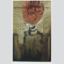 Reinhard Zado: Der Milchkrug. Farbradierung um 1980.