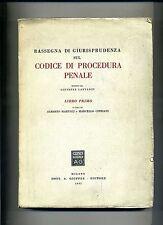 RASSEGNA DI GIURISPRUDENZA SUL CODICE DI PROCEDURA PENALE # Dott. A Giuffrè 1953