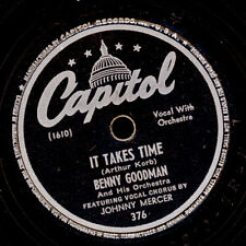 BENNY GOODMAN & HIS ORCH. It takes Time/ Moon-Faced Schellackplatte 78rpm  X3010