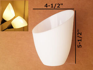 2-Pack Replacement Plastic Lamp Shade for Torchiere Floor Lamp