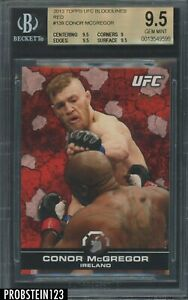 2013 Topps UFC Bloodlines Red #139 Conor McGregor RC Rookie 3/8 BGS 9.5 GEM MINT