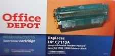 OFFICE DEPOT REMANUFACTURED HP C7115A BLACK LASER TONER CARTRIDGE 1200 3300