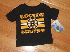 Nwt - Nhl Boston Bruins short sleeved black, yellow & white shirt - 12 mos boys