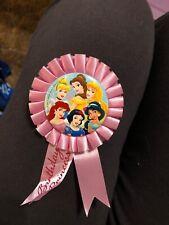 Disney princess birthday princess badge