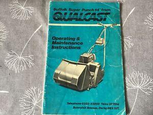 Super Suffolk Punch Qualcast Instruction Booklet