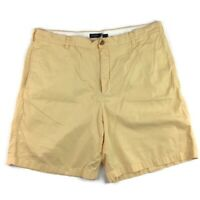 J. Crew Mens Club Shorts Yellow Flat Front Pockets Belt Loop Cotton Size 38
