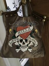 Ed Hardy by Christian Audiger Tote Sopping Bag