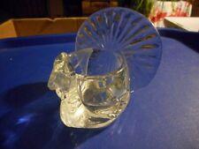 Vintage Glass Avon Turkey Farm Bird Wild Votive Candle Holder Decoration Table