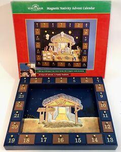 Wood & Magnetic Christmas Nativity Advent Calendar J3767