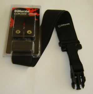 Dimarzio BLACK CORDURA Cliplock Strap fits Ibanez Steve Vai Jem RG - Any Guitar!