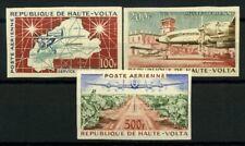 Burkina Faso 1961 Mi. 93-95 Nuovo * 100% Aereo non dentellati