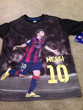 FC Barcelona Messi Youth Small Polyester T Shirt Tee. New.