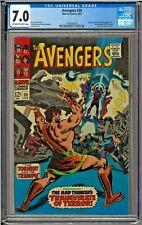 Avengers #39 CGC 7.0 Hercules Mad Thinker Black Widow Nick Fury