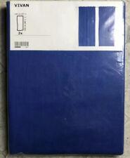"IKEA Vivan Curtain Blue Drape""Sheer"" 2 Panel NEW Sealed"