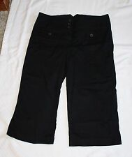 Larry Levine Stretch Womens 10 Black Capris Capri Pants W31 L18.5 R10